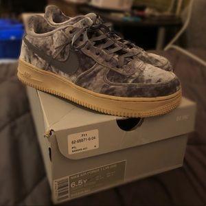 Blue Velvet Nike Air Force One's